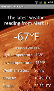 Mars Weather Report screenshot 3