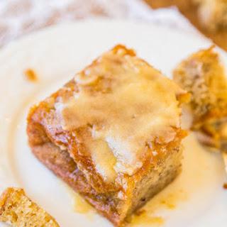 Browned Butter Glaze Soaked-Greek Yogurt Banana Cake.