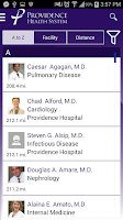 Screenshot of Providence Health System