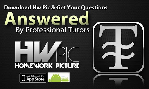 HwPic Homework Tutor