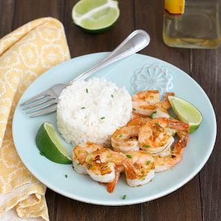 Tequila-Orange Grilled Shrimp.