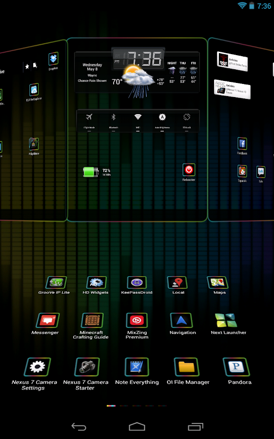 Next Launcher 3D Nex HD - screenshot