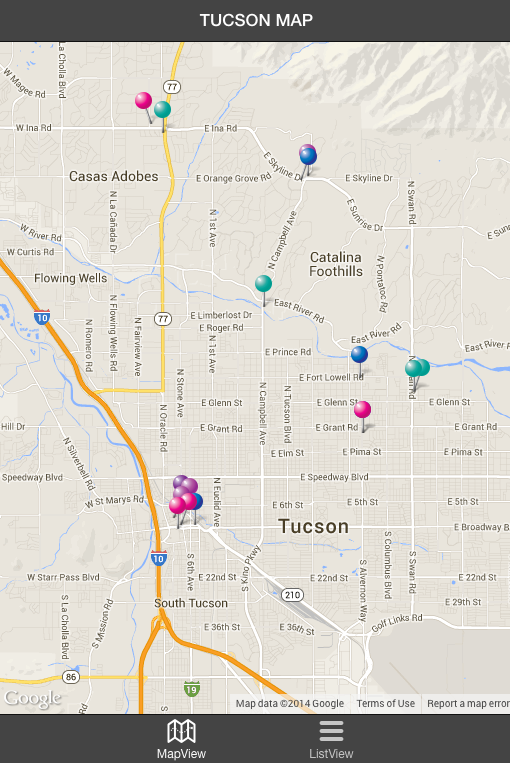 Tucson Map- screenshot