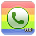 exDialer Black ICS Theme logo