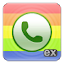 exDialer Black ICS Theme 4 APK for Android