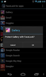 FaceLock for apps - screenshot thumbnail