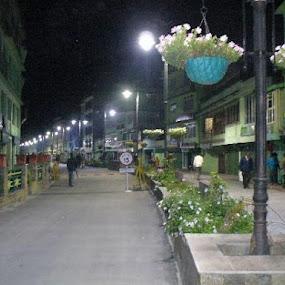 M.G MARG AT NIGHT by Suvra Roy - City,  Street & Park  Night ( city, night, , city at night, street at night, park at night, nightlife, night life, nighttime in the city )