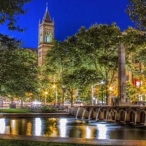 Boston Commons  by Nachau Kirwan - City,  Street & Park  City Parks ( water, night photography, waterscape, fountain, holidays, light,  )