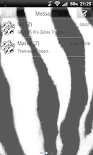 GO SMS Pro Zebra Theme - screenshot thumbnail