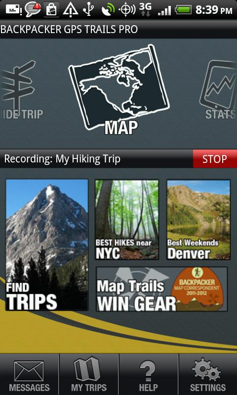 Backpacker GPS Trails Pro - screenshot