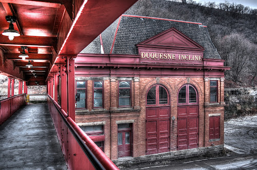 Duquesne Incline - Pittsburgh by Elk Baiter - Buildings & Architecture Public & Historical ( pittsburgh, duquesne, architecture, buliding, incline, historic )
