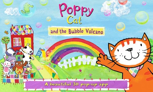 Poppy Cat Bubble Volcano Free- screenshot thumbnail