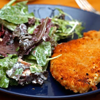 Chicken Cutlets with Creamy Parmesan Dressing.