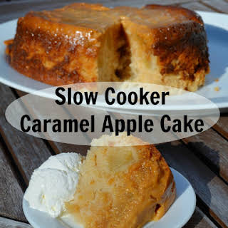 Slow Cooker Caramel Apple Cake.