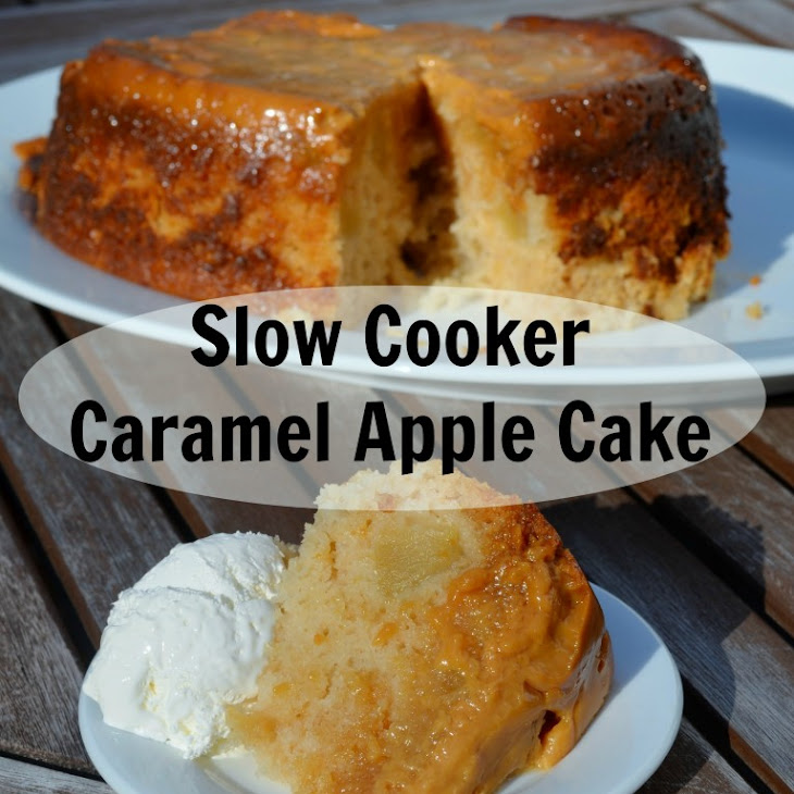 Slow Cooker Caramel Apple Cake