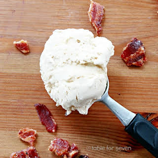 Salted Caramel Maple Ice Cream with Candied Bacon Bits.