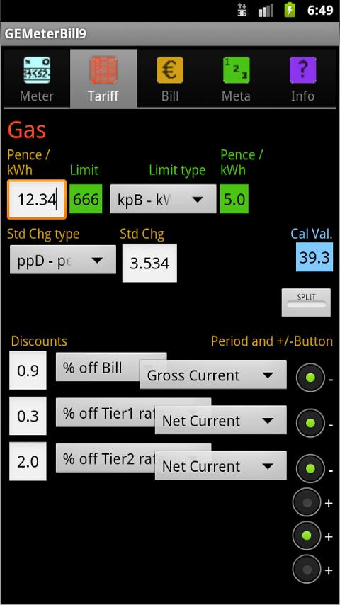 Gas/Electric Bill Checker- screenshot