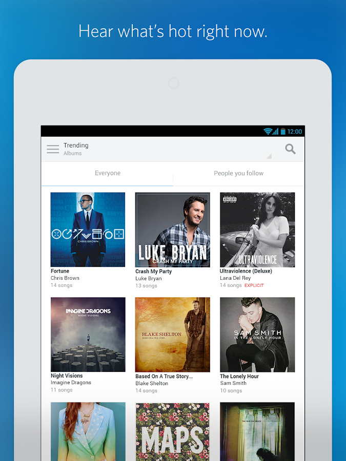 Rdio Music - screenshot