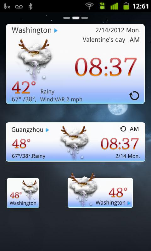 Christmas Theme GOWeatherEX - screenshot