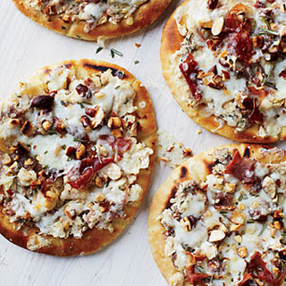 White Bean Flatbreads with Prosciutto and Cheese