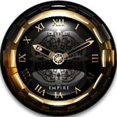 Golden Empire Clock Widget