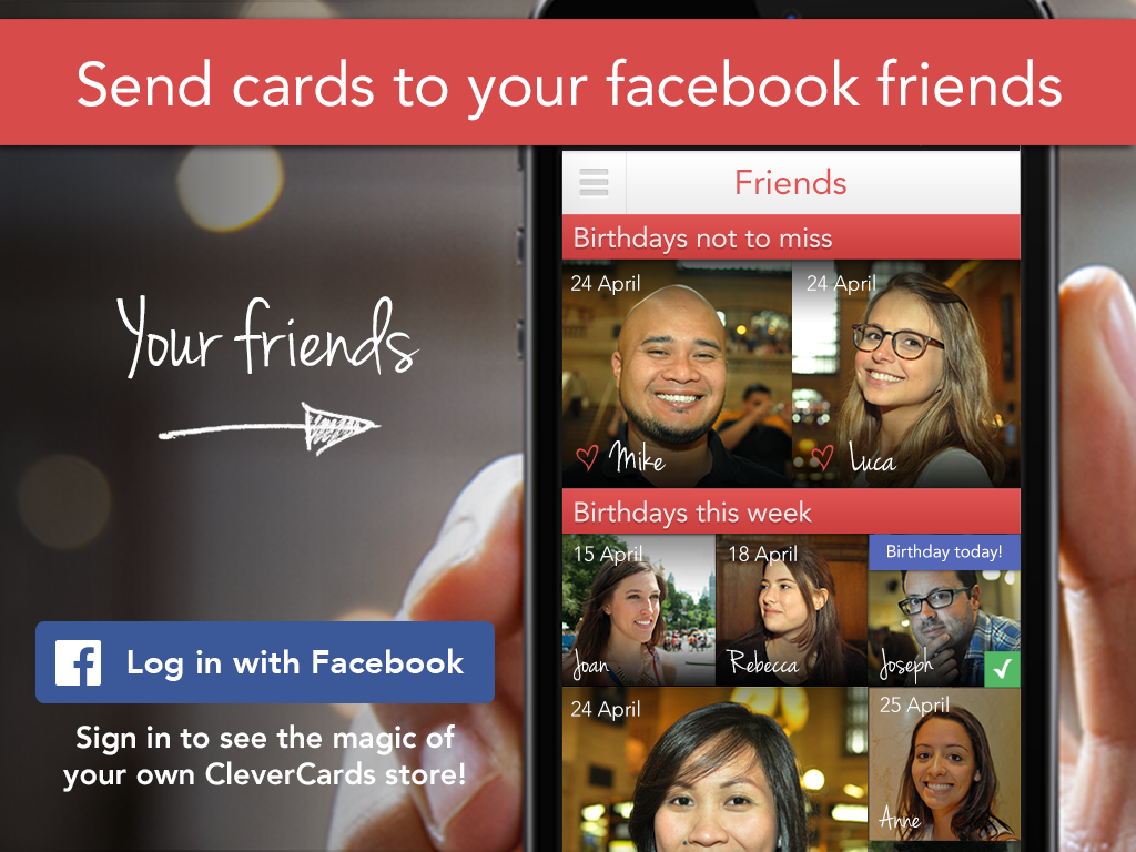 Clever Cards for Facebook App - screenshot