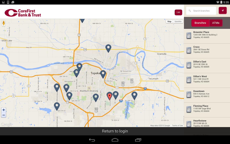 CoreFirst Bank & Trust Mobile - screenshot