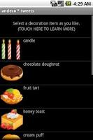 Screenshot of andeco * sweets