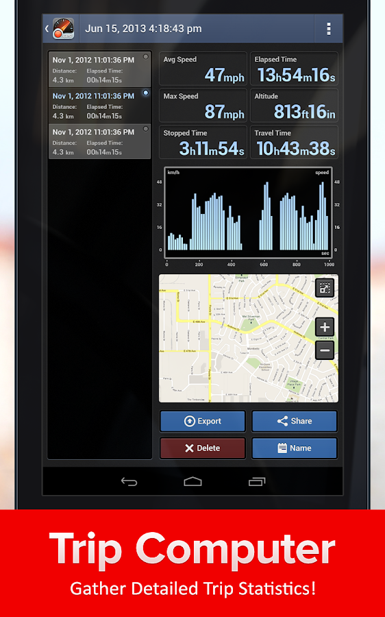 Speed Tracker Free - screenshot