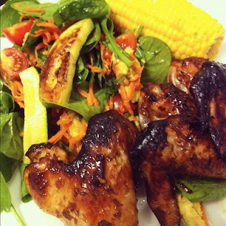 Sweet Chillli and Ginger Chicken Wings.