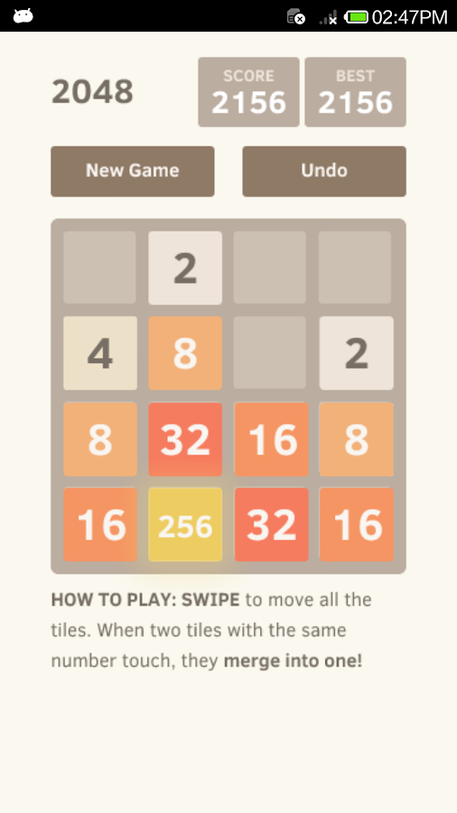 2048 Undo unlimited- screenshot