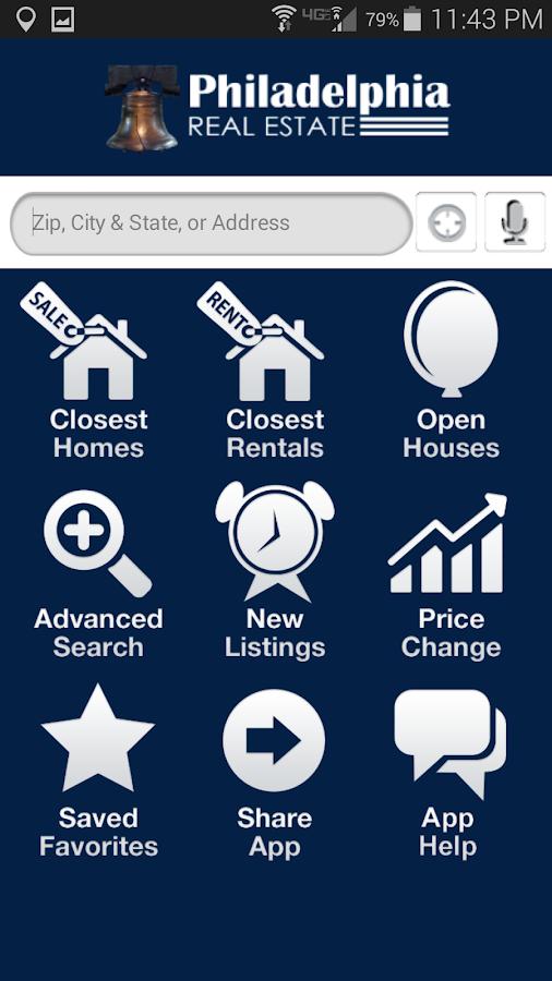 Philadelphia Real Estate- screenshot