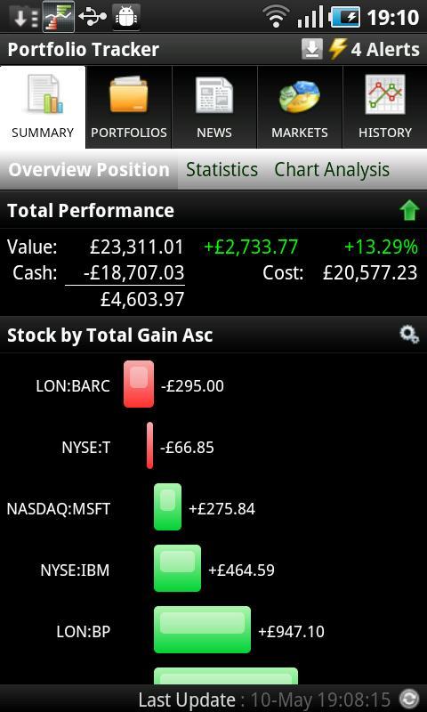 Portfolio Tracker (Stocks) - screenshot