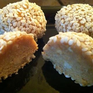Sesame Seed Peanut Butter Balls.