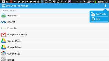 Screenshot of SME Cloud File Manager