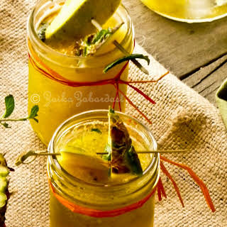 Mango-Pineapple non-alcoholic Sangria! Sensational and refreshing summer drink.