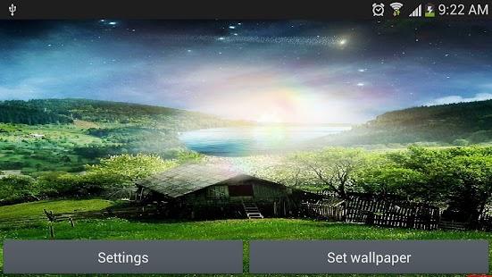 流星飛天堂生活的牆紙