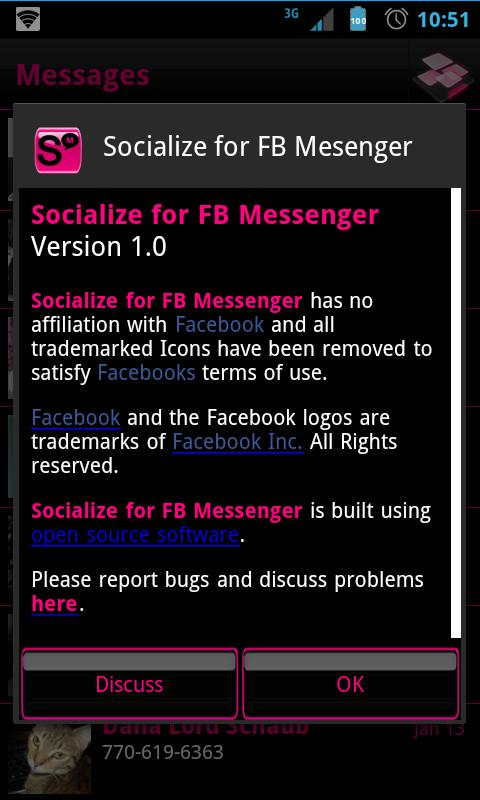 Pink Socialize 4 FB Messenger - screenshot