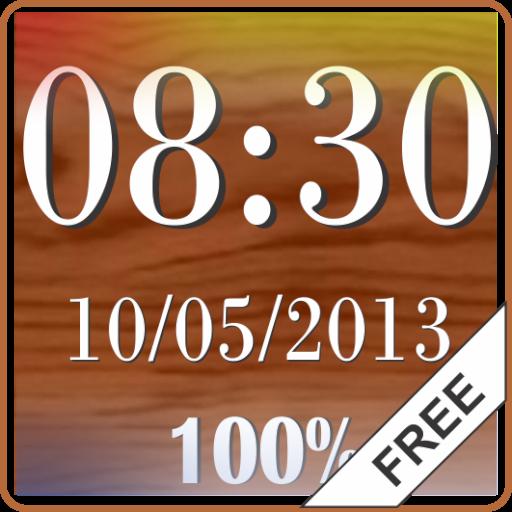 Clock & Battery wallpaper free LOGO-APP點子