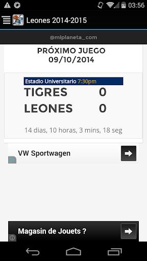 Leones 2014-2015