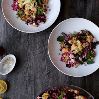 Roasted Cauliflower, Beet, and Farro Salad