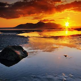 Minerstown Sunset. by Leslie Hanthorne - Landscapes Sunsets & Sunrises
