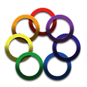 Rainbow Color Ring Icon Theme