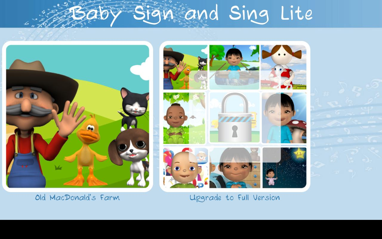 Baby Sign and Sing Lite - screenshot