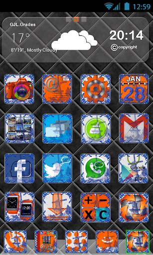 GLE theme Delft Blue Tile