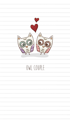 owl couple 카카오톡 테마