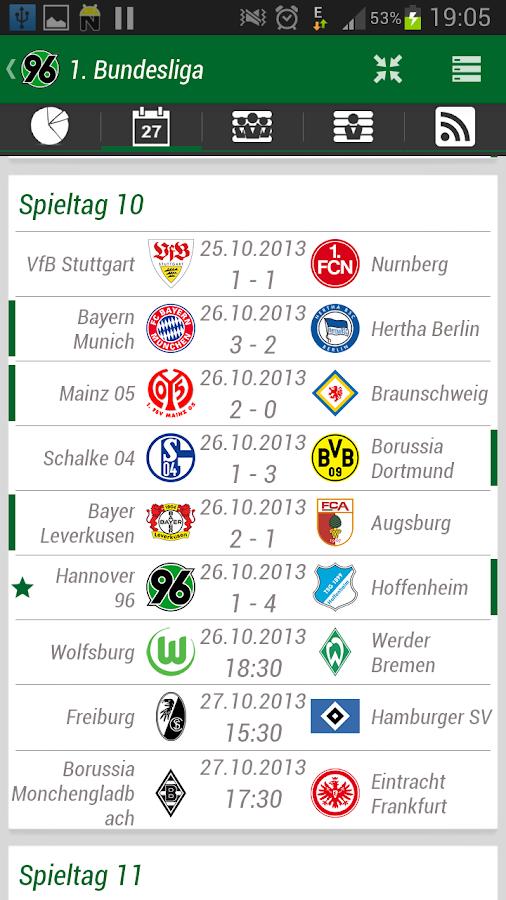 Hannover 96 App - screenshot