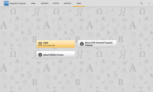 Vox French<>Spanish Dictionary - screenshot thumbnail