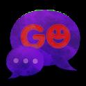 GO SMS Theme Dark Purple icon
