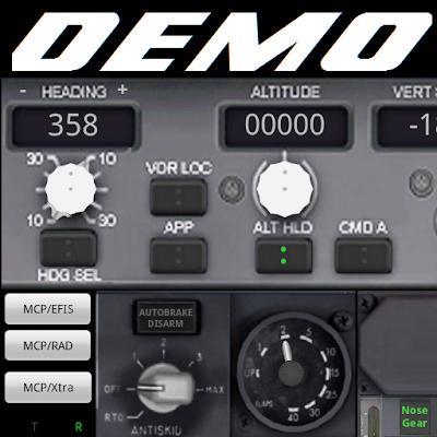 PWB737 MCP EFIS RADIO FSX Demo